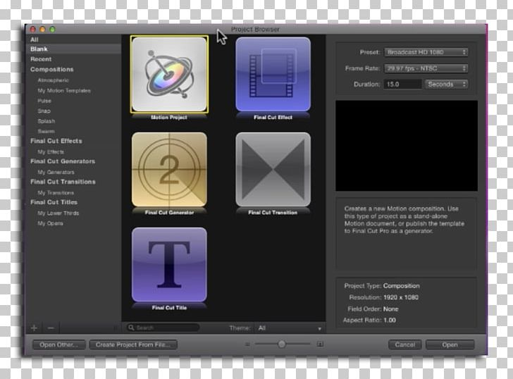 Mac Book Pro Final Cut Pro X Final Cut Studio Motion PNG