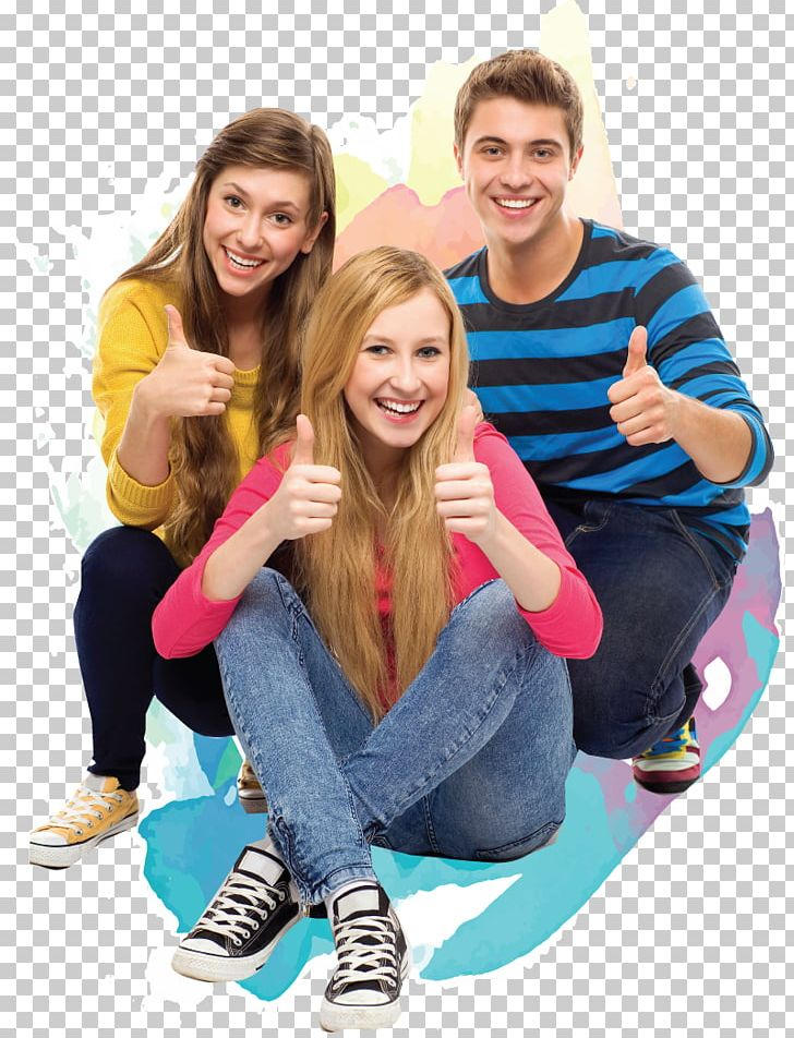Free modern teens happy