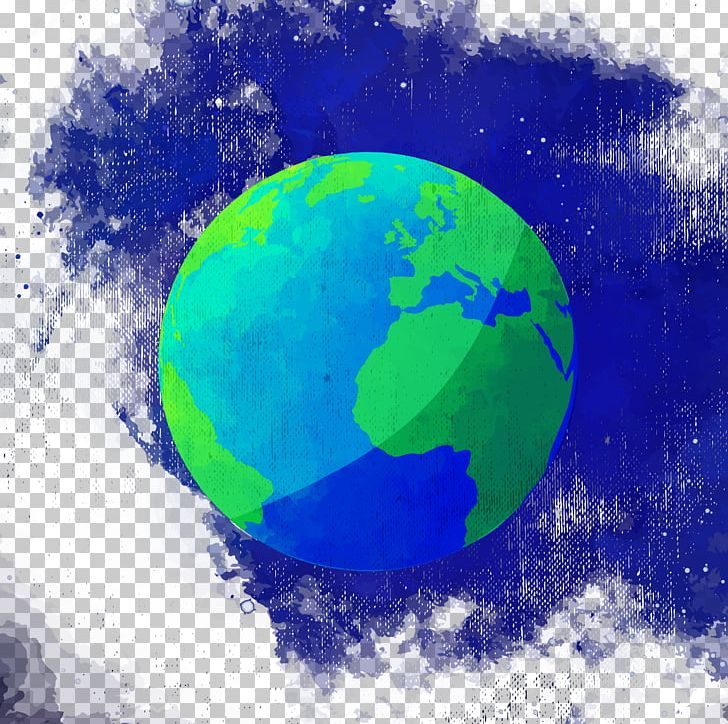 Earth Watercolor Painting PNG, Clipart, Atmosphere, Background Painting, Blue, Circle, Computer Wallpaper Free PNG Download