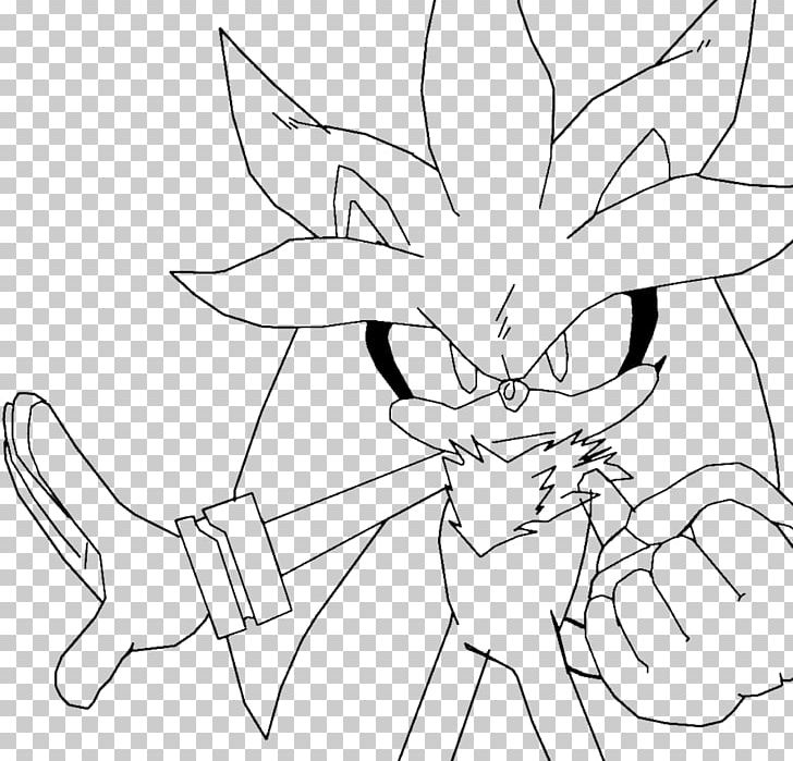 Silver The Hedgehog Line Art Sonic The Hedgehog Drawing Png Clipart Angle Animals Area Arm Art