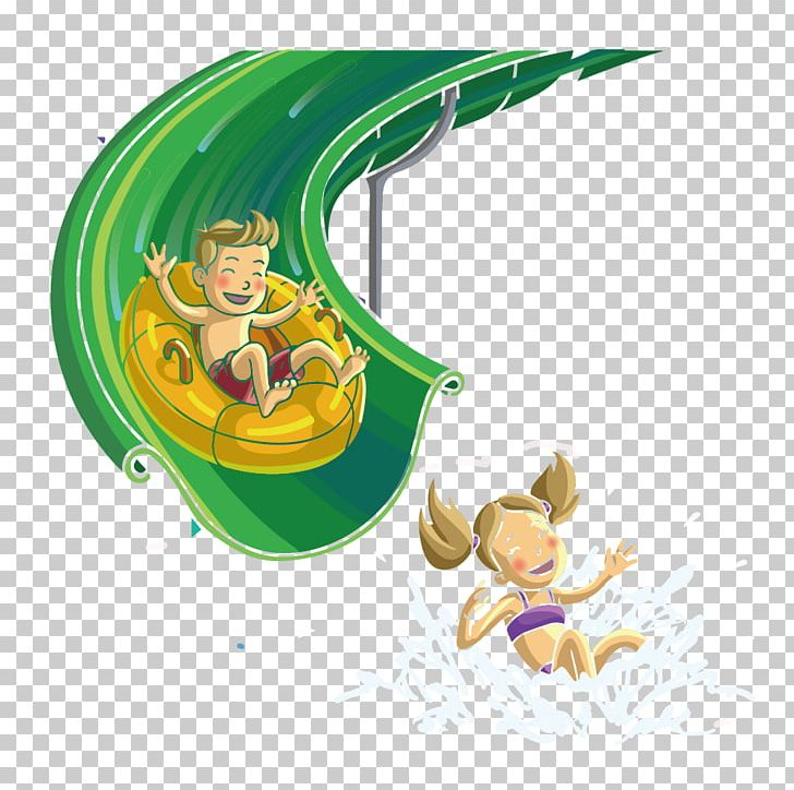 Water Park Playground Slide Water Slide Computer File PNG, Clipart, Art, Cartoon, Child, Childrens Day, Children Vector Free PNG Download