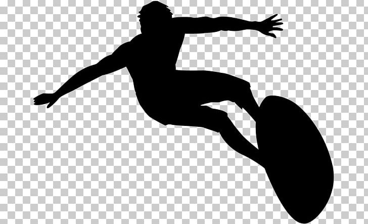 Silhouette Black And White Surfing Png Clipart Animals
