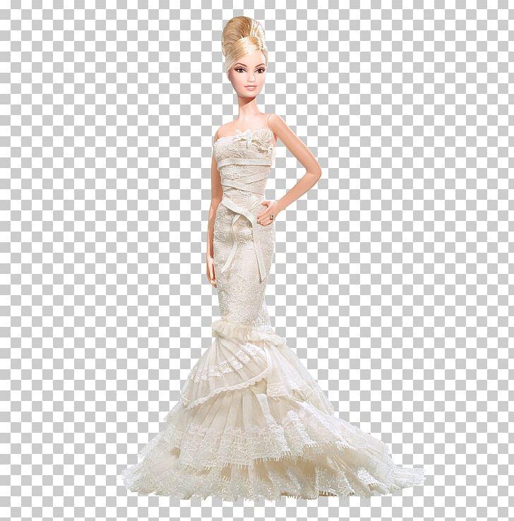Barbie Wedding Dress.Wedding Dress Vera Wang Bride The Romanticist Barbie Doll L9664