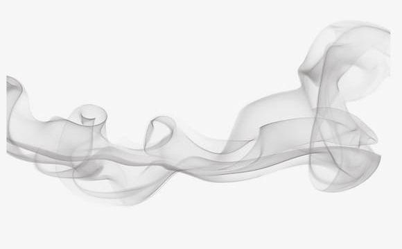 Smoke transparent. Gray clouds twist drift