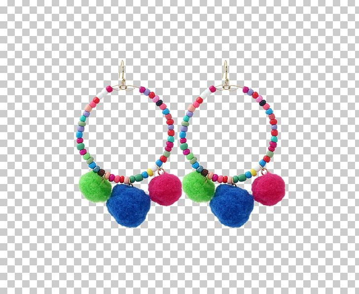 Earring Necklace Bead Pom-pom Jewellery PNG, Clipart, Bead, Bijou, Body Jewellery, Body Jewelry, Bracelet Free PNG Download