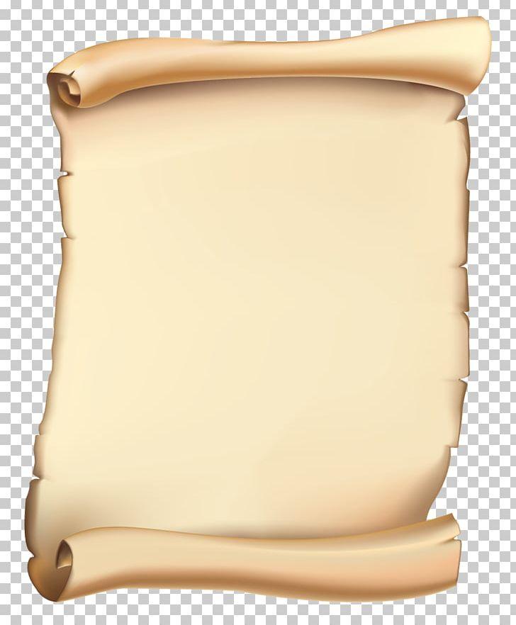 Parchment scroll. Paper png clipart beige