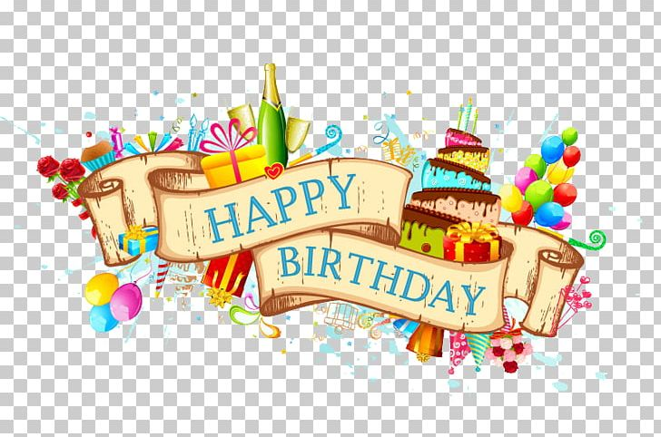 Birthday Cake Greeting Card Png Clipart Balloon Banner Birthday Card Colored Ribbon Cuisine Free Png Download