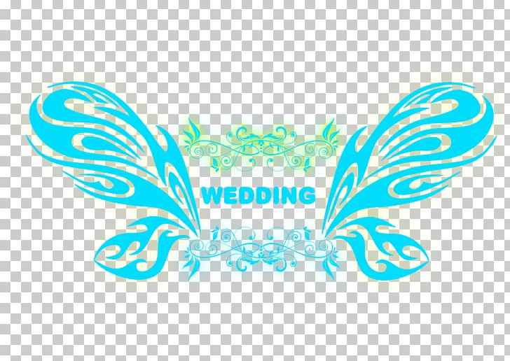 Fluorescent Blue Butterfly Wedding Logo Png Clipart Aqua Blue Blue Background Butterfly Butterfly Effect Free Png