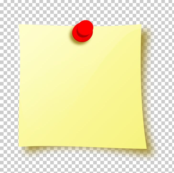 Paper Yellow Rectangle PNG, Clipart, Image, Material, Paper, Post It Note, Pushpin Free PNG Download