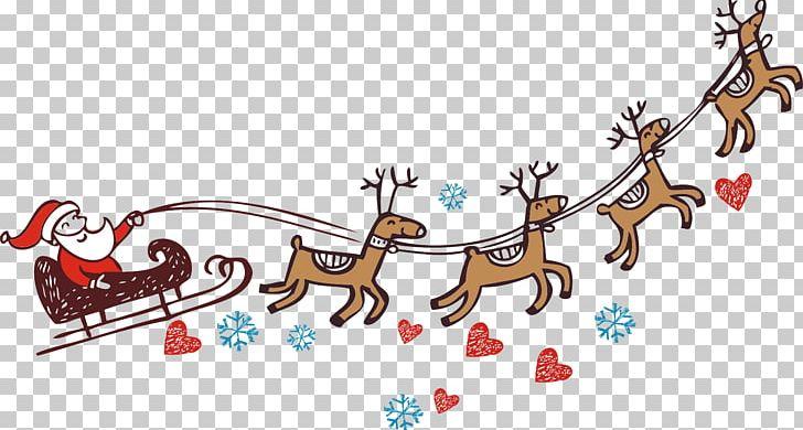 Santa Claus Reindeer Christmas PNG, Clipart, Area, Art, Branch, Christmas, Christmas Free PNG Download