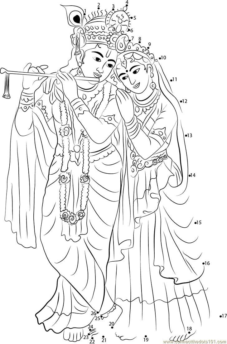 Krishna Janmashtami Radha Krishna Drawing Png Clipart Artwork