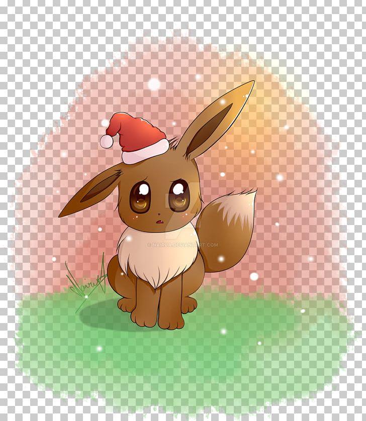 Christmas Eevee.Eevee Christmas Vaporeon Umbreon Rabbit Png Clipart
