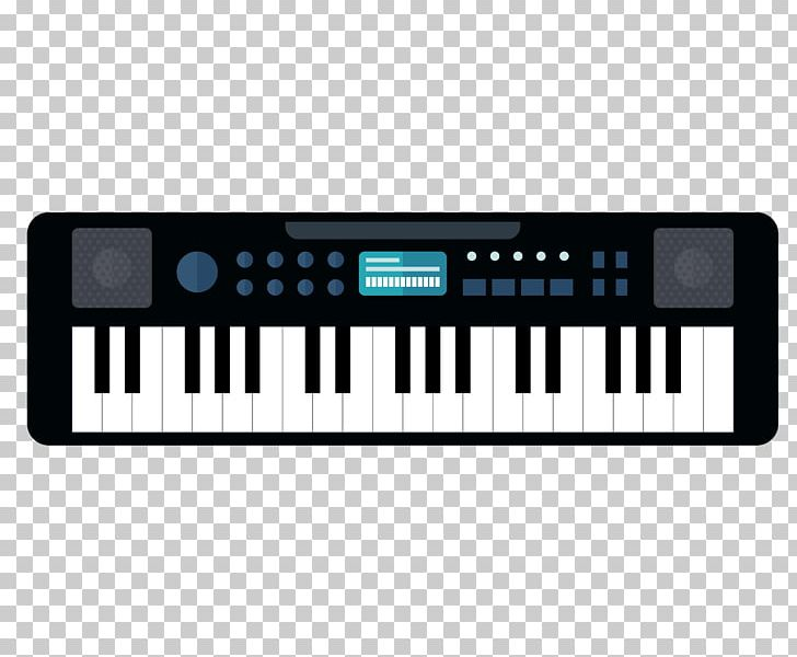 Electric Piano Musical Keyboard Digital Piano Electronic Keyboard Synthesizer Png Clipart Black Cartoon Electronic Device Electronic