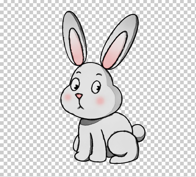 Rabbit Cartoon Rabbits And Hares White Nose PNG, Clipart, Animal Figure, Cartoon, Hare, Nose, Paint Free PNG Download