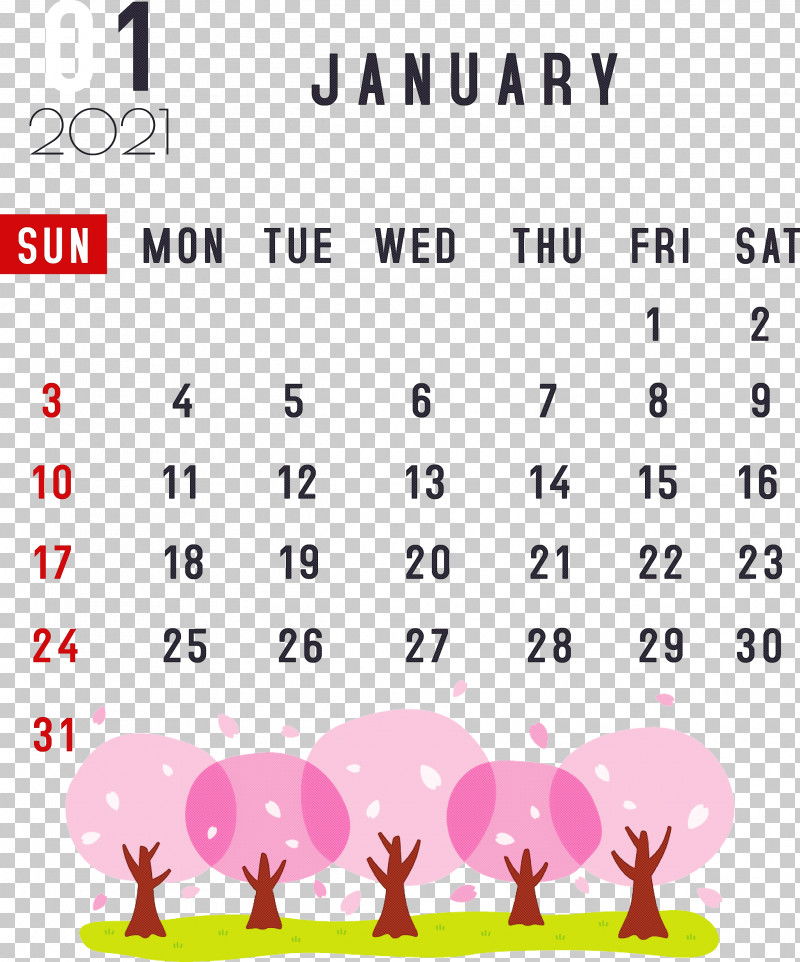January 2021 Printable Calendar January Calendar PNG, Clipart, 2021 Calendar, Annual Calendar, Calendar System, Calendar Year, Document Free PNG Download