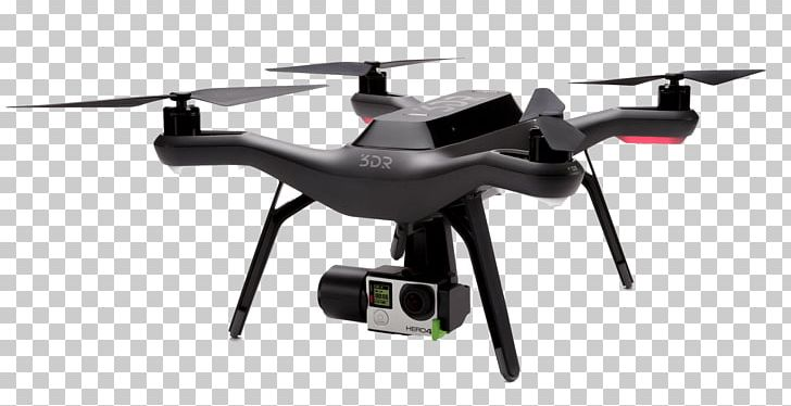 3D Robotics Unmanned Aerial Vehicle GoPro Quadcopter PX4