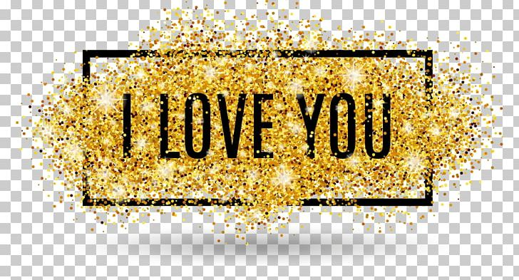 I Love You Glitter Text, Clipart, Childrens Day, Design, Encapsulated Postscript, English, Gold Free PNG Download