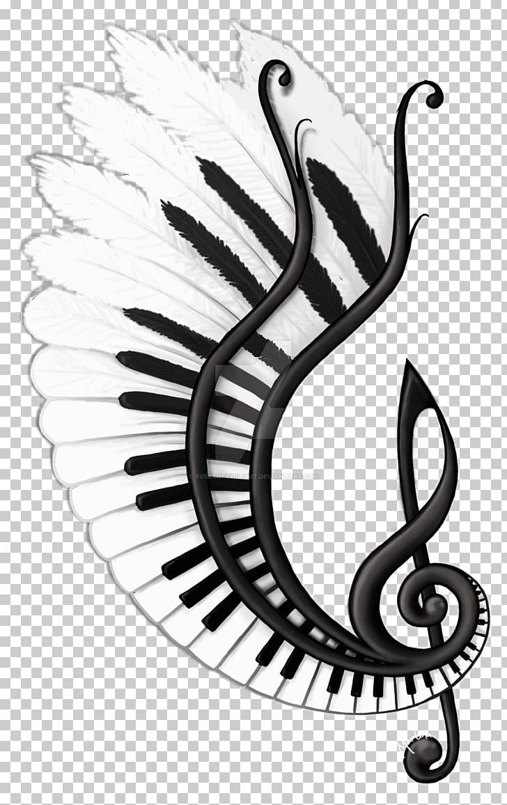 Drawing musical note sketch png clipart art black and