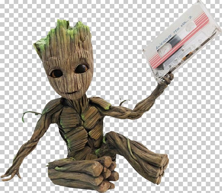 Baby Groot Star-Lord Rocket Raccoon Compact Cassette PNG, Clipart, Action Toy Figures, Baby Groot, Chris Pratt, Fictional Character, Figurine Free PNG Download