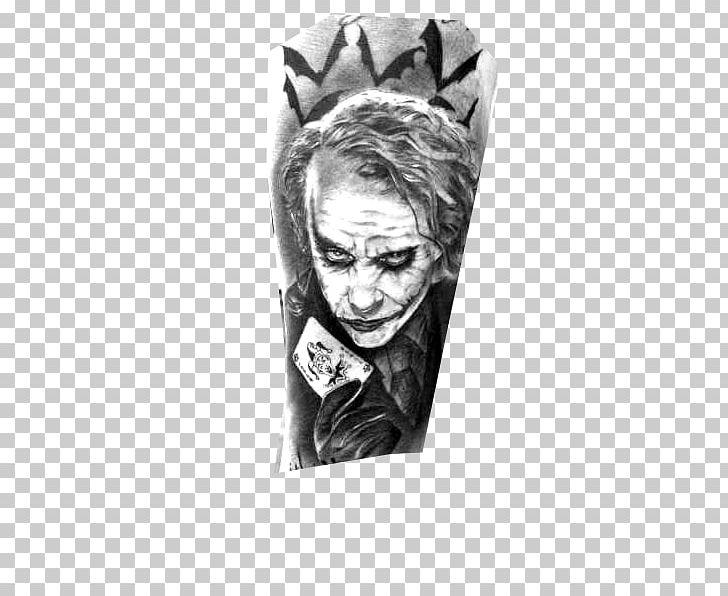Joker Batman The Dark Knight Heath Ledger Tattoo Png