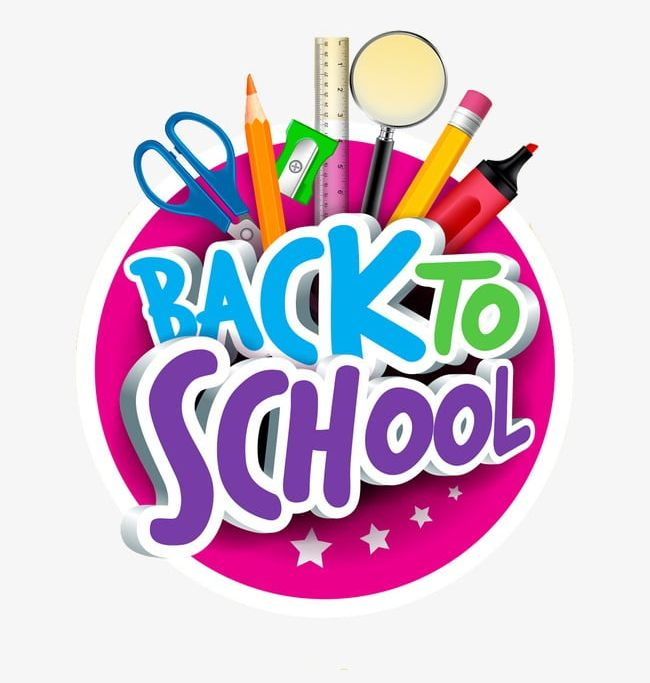 Back to school cartoon. Png clipart