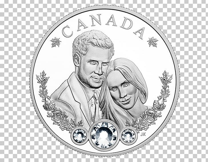Wedding Of Prince Harry And Meghan Markle Canada Coin PNG, Clipart, 19 May, Black And White, Canada, Circle, Coin Free PNG Download