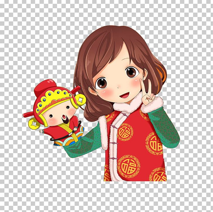 Tangzhuang Cartoon Suit Illustration Png Clipart Animation Anime