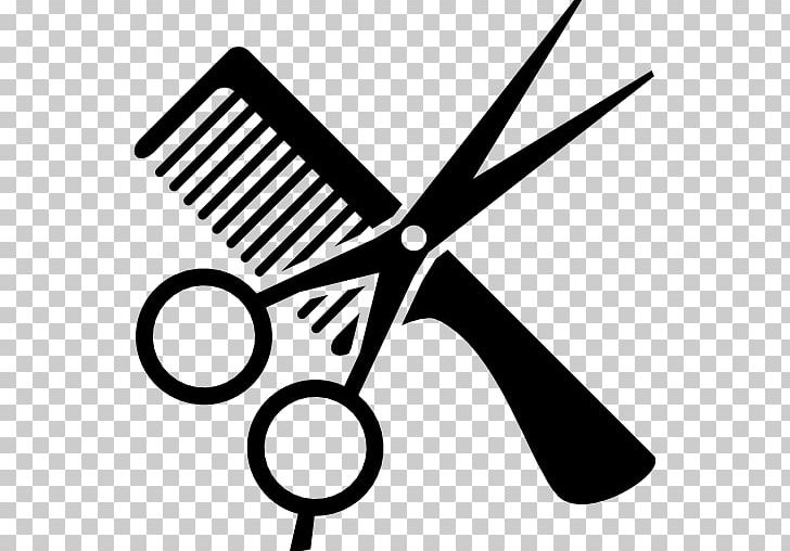 Comb Cosmetologist Beauty Parlour Hair-cutting Shears PNG, Clipart, Barber, Beauty Parlour, Black And White, Clip Art, Comb Free PNG Download