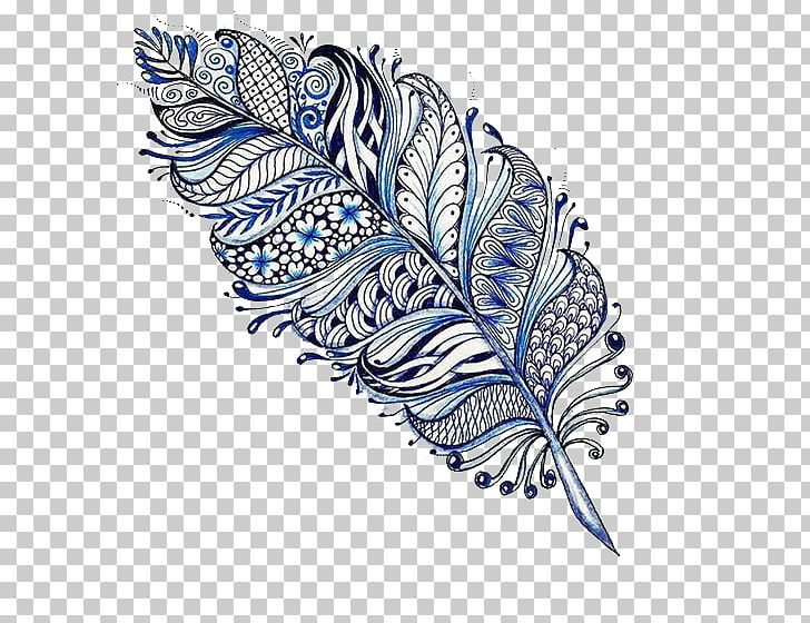 Mandala Drawing Feather Tattoo Mehndi PNG, Clipart, Animals, Art, Blue, Butterfly, Creative Free PNG Download