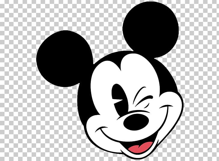Mickey Mouse Minnie Mouse Face Png Clipart Artwork Black Black