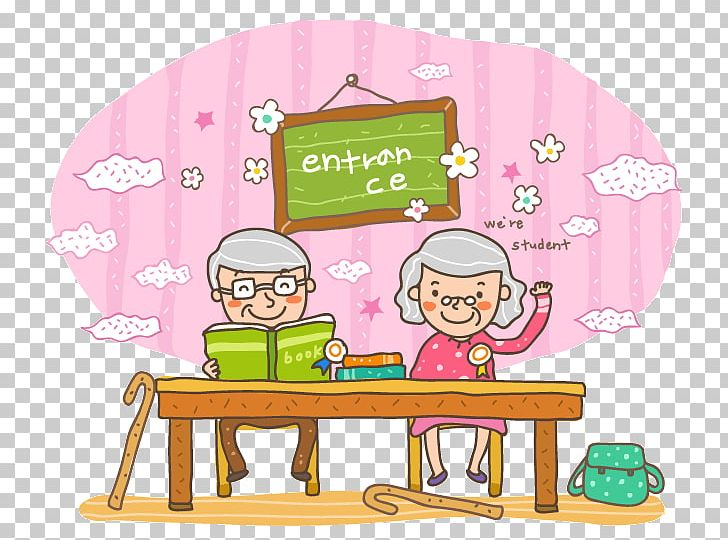 Cartoon Child Illustration PNG, Clipart, Area, Art, Attend Class, Blackboard, Book Free PNG Download