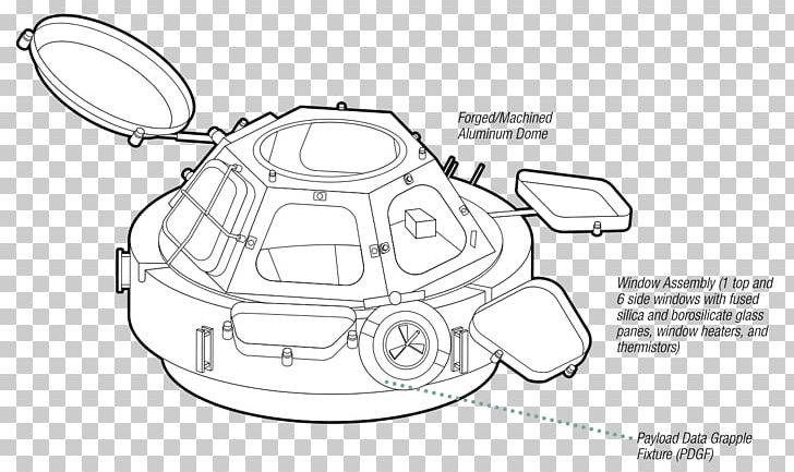 Cupola International Space Station Window Centimeter Sketch PNG
