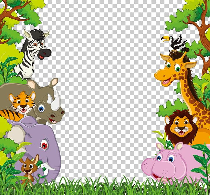 Animal Jungle PNG, Clipart, Animals, Art, Cartoon, Cartoon Animals, Cute Free PNG Download