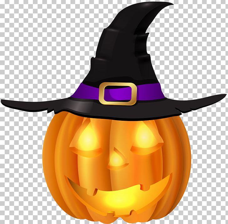 Pumpkin Witch Hat Halloween Jack O Lantern Png Clipart Calabaza Clipart Cucurbita Cucurbitaceae Cucurbita Maxima