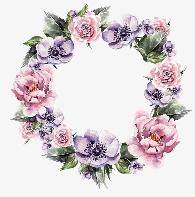 Hand,painted Garlands Of Flowers PNG, Clipart, Beautiful