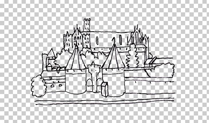Malbork Castle Colouring Pages Coloring Book PNG, Clipart, Angle, Area, Artwork, Black And White, Castle Free PNG Download