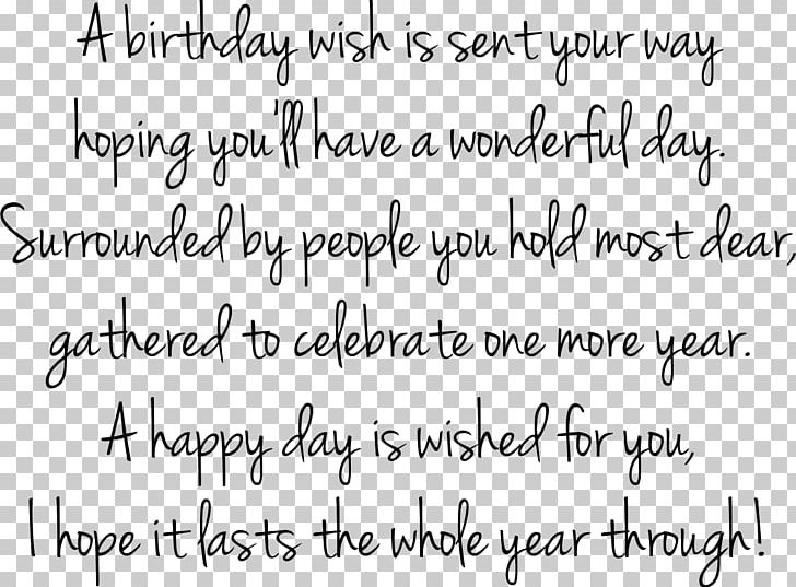 Birthday Quotation Happiness Wish Man PNG Clipart Angle Area Black And White Boy Free Download
