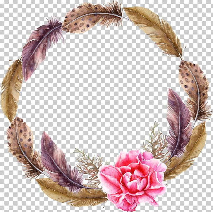 Watercolor Christmas Wreath Png.Wreath Watercolor Painting Garland Png Clipart Animals