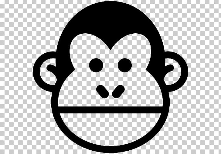 Chimpanzee Gorilla Ape Computer Icons PNG, Clipart, Animals, Ape, Black And White, Chimpanzee, Computer Icons Free PNG Download