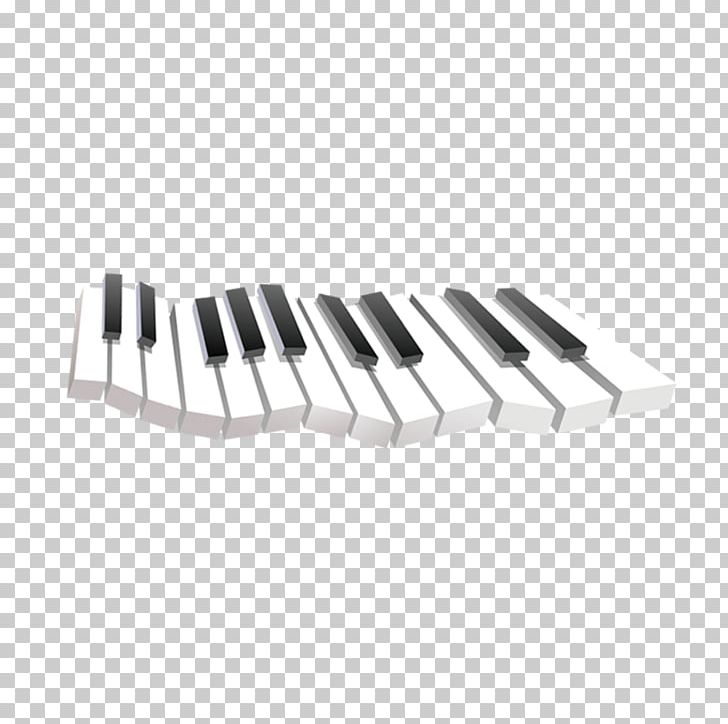 Digital Piano Black And White Musical Keyboard PNG, Clipart