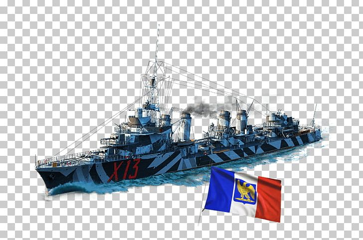 World Of Warships Heavy Cruiser France Destroyer PNG, Clipart