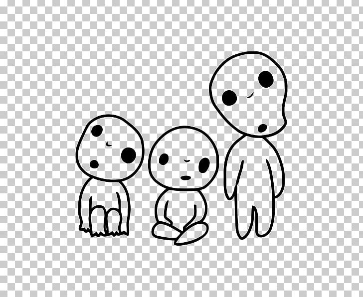 Kodama Alcest Obake Ghost Spirit Png Clipart Art Black And White Character Child Drawing Free Png