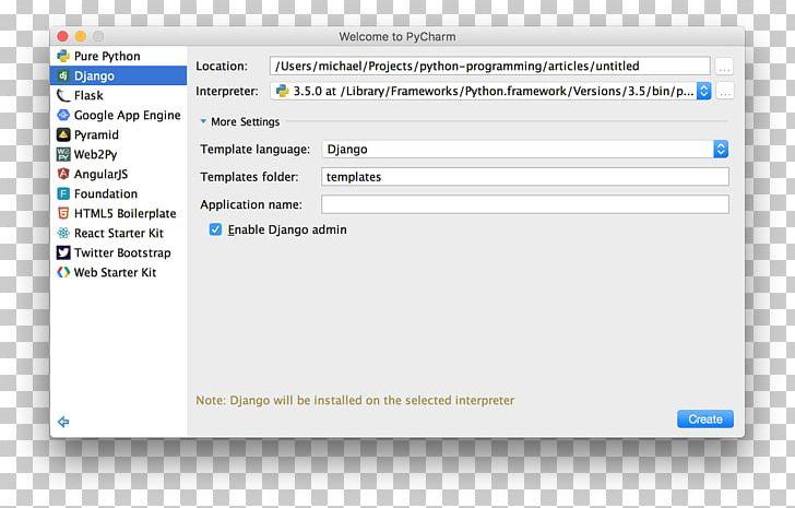Computer Program Django PyCharm Python Web Framework PNG