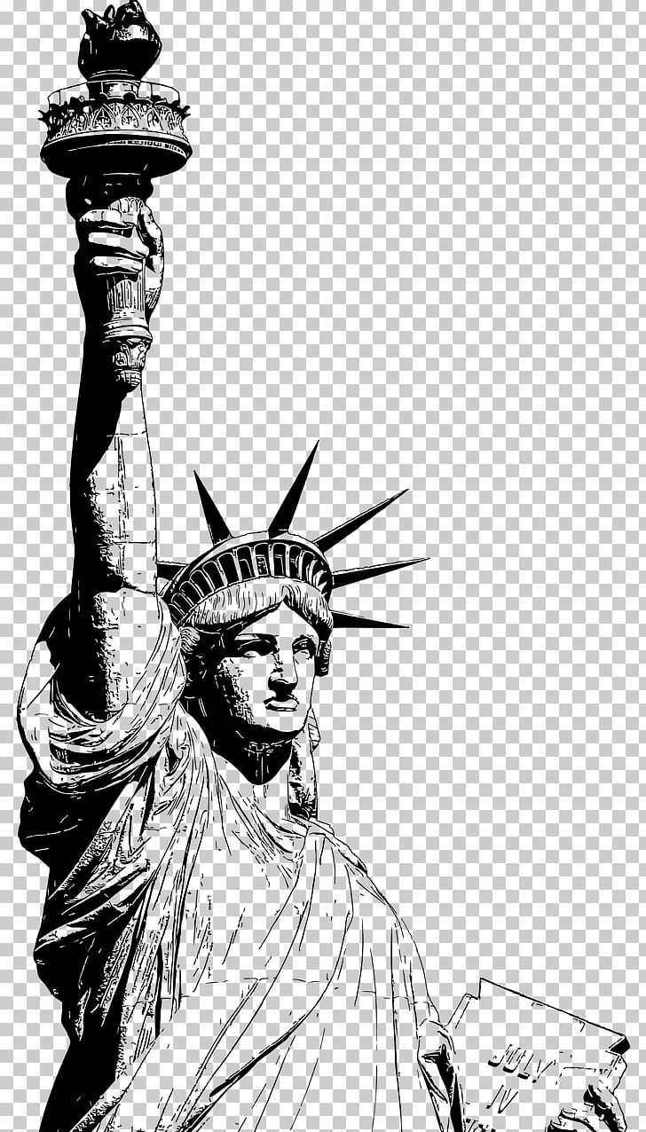 Statue Of Liberty Eiffel Tower Drawing PNG, Clipart, Art, Artwork, Black And White, Comics Artist, Computer Icons Free PNG Download