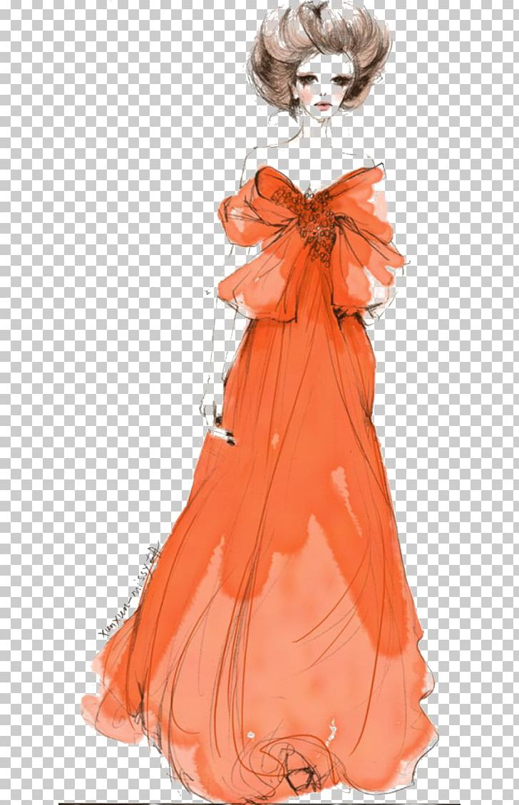 Watercolor: Flowers Dress Woman PNG, Clipart, Cartoon, Dressing, Fashion Design, Fashion Illustration, Fashion Model Free PNG Download