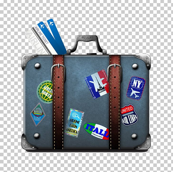 Suitcase Travel Airline Ticket Baggage Train PNG, Clipart