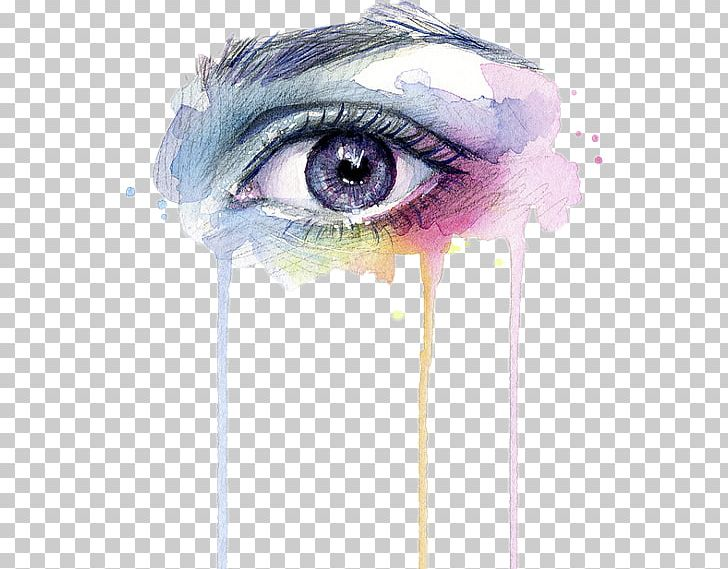 Watercolor Painting Art Eye Drip Painting Png Clipart