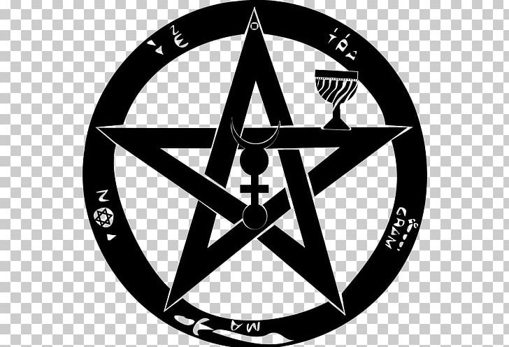 T-shirt Pentagram Pentacle Satanism Witchcraft PNG, Clipart, Area, Black And White, Brand, Bumper Sticker, Circle Free PNG Download