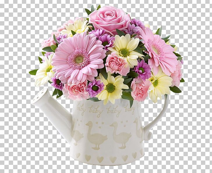 Cut Flowers Watering Cans Pink Flower Bouquet PNG, Clipart, Artificial Flower, Blue, Cans, Centrepiece, Chrysanthemum Free PNG Download