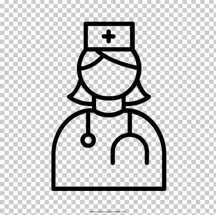 Nursing Coloring Book Medicine PNG, Clipart, Area, Black ...